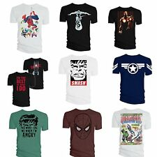 Marvel Superheroes T Shirts DC Comics Avengers Costume Genuine Licensed Products