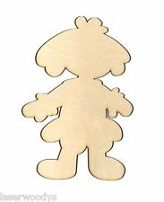 Baby Doll Unfinished Flat Wood Shape Cut Out BD5288 Variety Sizes Crafts