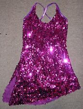 Marcea Sequin Fuscia Dance Jazz Salsa Costume Ballroom Dress 717434 Adult S & M