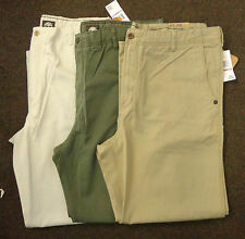 NWT Timberland Men's Cotton  Flat Front Straight Fit Sz 32, 34, 36, 38, 42