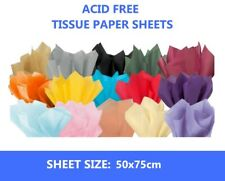 """10 Sheets of Acid Free 50cm x 75cm Tissue Paper - 18gsm Wrapping Paper 20"""" x 30"""""""