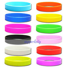 New 12 Colors Sport Silicone Bracelet Rubber Wristband