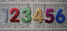 GLITTER FOAM - NUMBERS 0-9 Die cuts Age Birthday Cards Kids Crafts SELF ADHESIVE