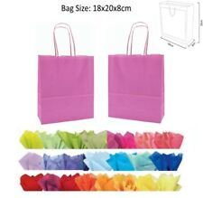 20 x 18 x 8 cm Light Pink Paper Party Gift Bags Wedding Favour Gift Bag & Tissue