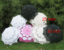 Hot Sale 2-Size Lace Parasol 4-Color Umbrella For Home Party Wedding Xmas gh1061