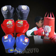 Kids Boxing Gloves MMA Ultimate Fight Grapple Punch Muay Thai Training Ages 3-10