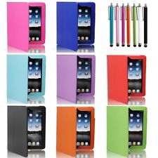 New Magnetic Folio PU Leather Case Cover For Apple iPad 1 1st Generation +Stylus