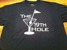 The 19th Hole..Adult Unisex Golfing T-shirt...Funny Golf + Booze Tee Shirt
