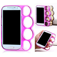 Rings Knuckles Hard Bumper Side Riim Cover Case for Samsung Galaxy S4 I9500