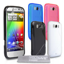 Accessories For The HTC Sensation XL Stylish Silicone Gel Case Cover Skin UK