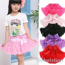NEW Skirt Party Dress Multi-List Pettiskirt Girls Dance Tutu Ballet Fluffy Petti