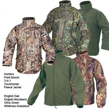JACK PYKE JACKETS, HUNTER, 3 IN 1, WATERPROOF FLEECE FIELD SMOCK FISHING HUNTING