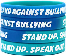 50 Non Bullying Wristbands - ANTI BULLYING bracelets - Stand Against Bullying