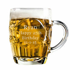 Personalised Engraved 1 Pint Dimple Glass Tankard Wedding Father Of The Bride