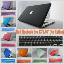 "2in1 11 Color Rubberized Frosted Hard Case Cover For Macbook Pro 13""&15"" Cut-OUT"