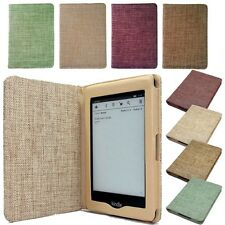 KINDLE PAPERWHITE /4 /5/KOBO GLO TOUCH LINEN FABLIC CASE Cover +Screen Protector