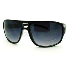 Mens Fashion Sunglasses Oversized Square Flat Top Wrap Frame