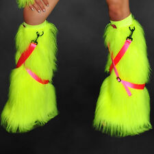 Cyber Bunny SWITCH UV NEON YELLOW detachable strap colour change fluffies! raver