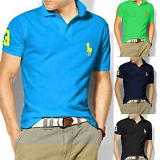 Men's Boys Stand-Collar Short Sleeve Polo Shirts Lapel T-shirt Tee Tops Casual