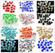 Wholesale 1000pcs Glass Crystal Faceted Bicone Loose Spacer Beads 4mm Findings
