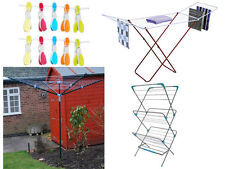 NEW 4 ARM ROTARY WASHING LINE / 3 TIER / 18M HORSE CLOTHES DRYER AIRER / 20 PEGS