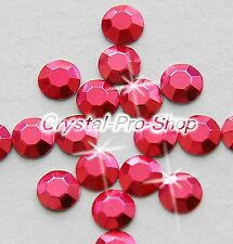 Fuchsia Iron On Faceted Hot Fix Rhinestud Aluminium Craft Shine 2mm 3mm 4mm 5mm