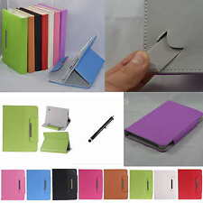 "Colorful Flip  Leather Case Cover+Stylus For 7"" Aluratek CinePad AT107F Tablet"