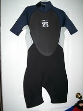 Body Glove Shorty Spring Suit Wetsuit Black/Silver/Slate Pro 3 S/A 2mm Neoprene