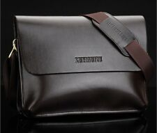 Genuine Leather Mens Handbag Messenger Shoulder Briefcase Laptop BAG E9807
