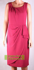 Linea House of Fraser RRP £120 Pink Red Crepe Drape Style Dress Fast Free Ship