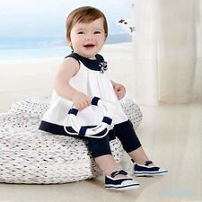 Prince Kids Girls Outfits Clothes Baby Flowers Shirts Tops+Pants 2 PCS Set 0-3Y