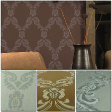 Special! 10M Plaid City Heavy Damask Embossed PVC Coating Wallpaper Rolls;5color