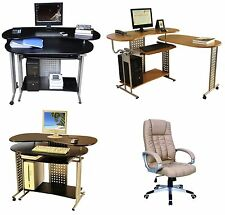 NEW COMPUTER DESK w/Keyboard Shelf+OFFICE CHAIR,SEAT Home/Business Furniture #33