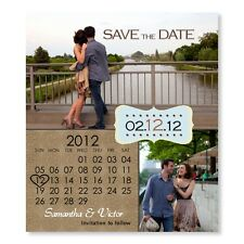 Your Color Calendar Save The Date Wedding Magnets With Envelopes Custom
