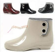 8 color Girl's Rain Boots bowknot Polka Dot Womens shoes Ankle Boots Galoshes