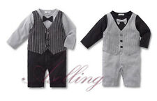 Fall Winter Formal New Born Boy Baby Suit Set Romper Pants 1PCS Jumpsuit Outfit