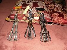 YOUR CHOICE: VINTAGE DOUBLE HEADED EGG/ HAND BEATERS. USE OR HOME DECOR