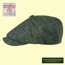 Failsworth Harris Tweed Cap David Beckham Newsboy Cap Peaky Blinders Blue/Grey