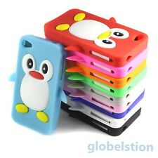 3D Penguin Cute Style Silicone Soft Gel Back Case Cover For Iphone 4S 4GS 4 4G