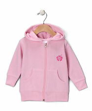 "Surfer Baby ""Surfers Rule"" Girls Pink Infant Zip-Up Fleece Hoodie Sweatshirt"