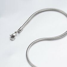 """1.2mm 16""""-40"""" Silver Stainless Steel Snake Necklace Chain Sb36 USA Seller"""