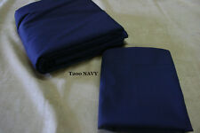 """Queen size Dust Ruffle - Ruffled or Tailored - 200TC NAVY 14"""" 18"""" 21"""" drops"""