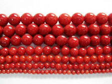 New Red Natural Coral Gemstone Round Spacer Beads 16'' 4mm 6mm 8mm 10mm 12mm