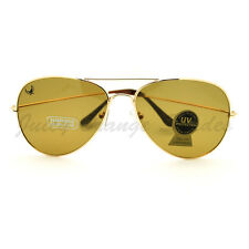 Glass Lens Aviator Sunglasses Classic Tear Drop Cop Pilot Frame