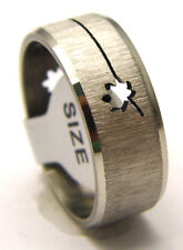 NEW Band Ring w/ LEAF A Great for Men or Women Cutout Style Stainless Steel