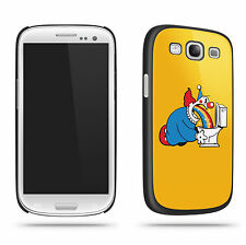 Funny Toilet Clown Rainbow Cool Retro Quirky Phone Case Shell for Samsung S3