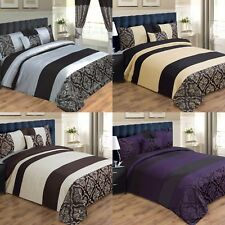 LUXURY DUVET COVER BED SET INC PILLOWCASES & CUSHION - DOUBLE, KING & SUPER KING