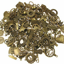Antique Brass Bronze Charms and Pendants Mixes Steampunk jewellery items.65g mix