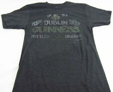 Mens NEW Gray Guinness Beer Dublin Ireland Logo Graphic T-Shirt Size S M L