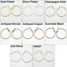 20Pc Circle Basketball Wives Hoops Earrings 30mm Gold Silver Bronze 8Colors S225